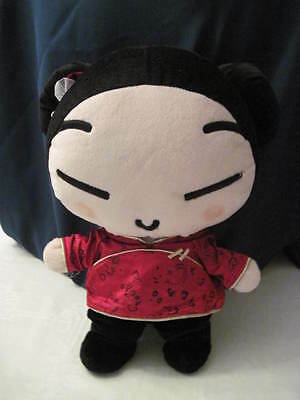 """Cute Chunky Plush Pucca Doll Korean With Asian Outfit & Headband Large 16"""" Anime"""