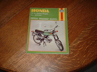 Haynes Manual For Honda Ss50 Sports Mopeds. 1973 To 1977.