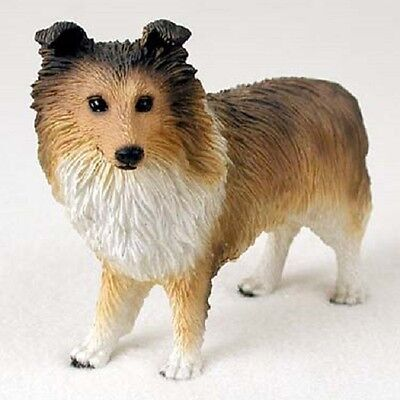 SHELTIE Dog FIGURINE Sable puppy HANDPAINTED COLLECTIBLE resin Shetland Sheepdog
