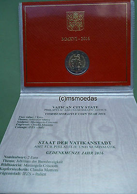 Vatikan 2 Euro Gedenkmünze 2016 Barmherzigkeit Blister Folder commemorative coin