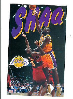NBA : Vintage Shaq O'Neal Los Angeles Lakers Poster Sticker - New