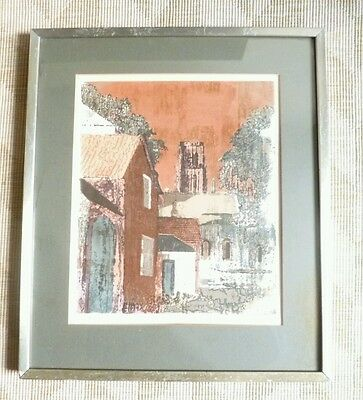 Norman Wade Limited Edition Screen Print The Bailey Durham 61/100 1973