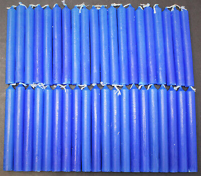 """40 Mini 4"""" Chime Spell Candles: Royal Blue (Wicca, Altar, Ritual) Dark Blue"""