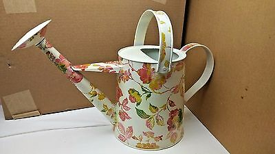 """Floral Design Metal WATERING CAN 8 5/8"""" Tall 8"""" Wide bottom by THRESHOLD"""