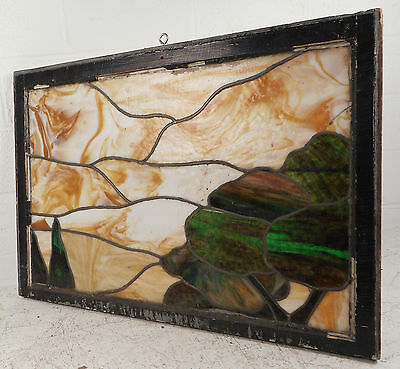 Vintage Stained Glass Window (3158)NJ