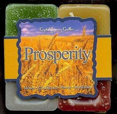 Prosperity Reiki Crystal Journey Candles 4 Candles GIFT SET Money Power Magick