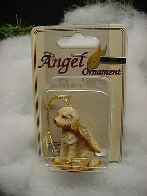 LABRADOODLE Blond DOG ANGEL ORNAMENT Figurine Statue NEW Christmas cream puppy
