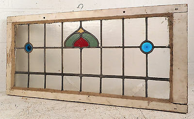 Vintage Stained Glass Window Panel (3179)NJ