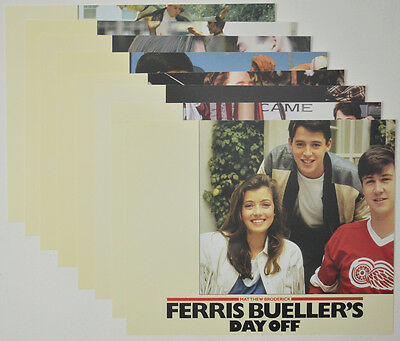 FERRIS BUELLER'S DAY OFF (1986) Original Set of Colour FOH Stills / Lobby Cards
