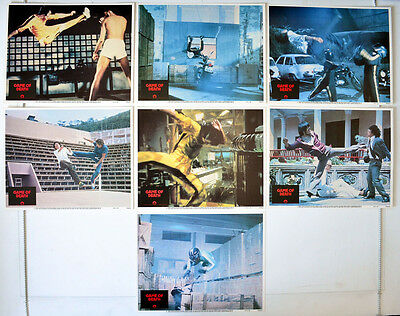 GAME OF DEATH (1979) 7 Original USA Cinema Lobby Cards - Bruce Lee, Gig Young