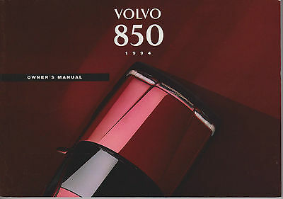 Volvo 850 Owners Handbook 1994 In Excellent Condition