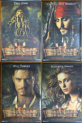 PIRATES OF THE CARIBBEAN - DEAD MAN'S CHEST (2006) Set of FOUR Cinema Banners