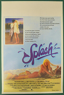 SPLASH (1984) Original Belgian Cinema Movie Poster - Tom Hanks,  Daryl Hannah