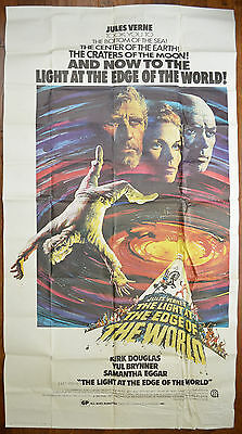 THE LIGHT AT THE EDGE OF THE WORLD (1971) 3 Sheet Movie Poster - Kirk Douglas