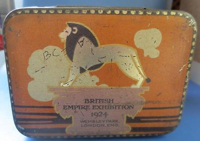 British Empire Exhibition Wembley Tin Advertising Grips First Aid Pastilles 1924