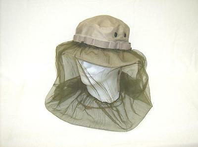 US military issue surplus boonie hat accessory mosquito insect proof netting OD