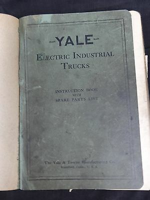 1927 Yale Electric Industrial Trucks Instruction Book & Spare Parts List K20-24