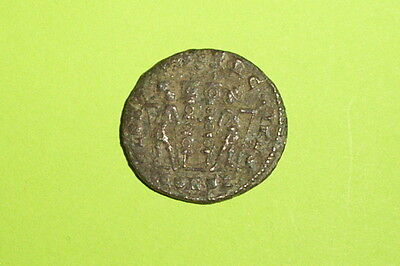 Authentic Ancient ROMAN COIN military soldiers CONSTANTIUS II 324 AD-361 AD old