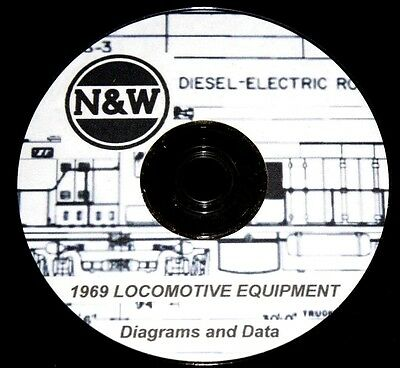 Norfolk & Western RR 1969 Locomotive Diagrams and Data PDF Pages on DVD