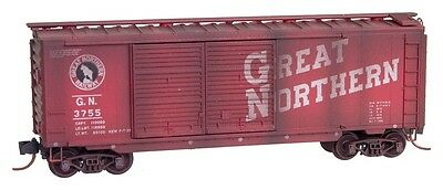 Great Northern 40' Standard Boxcar Weathered Micro-Trains MTL #02344350 N-Scale