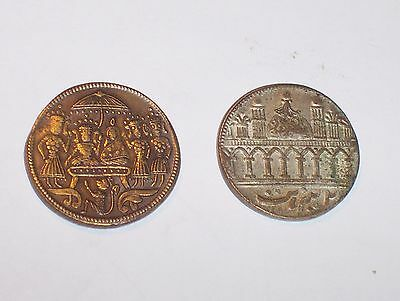 Two Eastern Temple Tokens