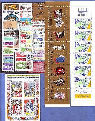Timbres  Annee  Complete  France Neuf  Luxe  1990 +++