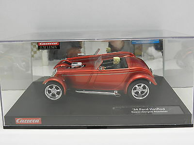 Carrera 20246 Exclusiv Slot Car 1934 Ford HotRod Supercharged Roadster  M. 1:24