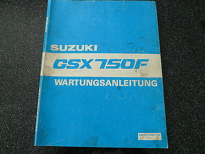 Suzuki GSX 750 F Maintenance manual