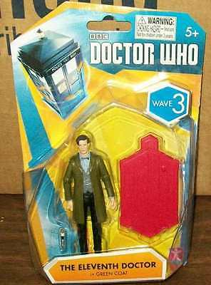 """DOCTOR WHO SERIES WAVE 3 ELEVENTH DOCTOR IN GREEN COAT 3.75"""" #sjan16-11-A"""