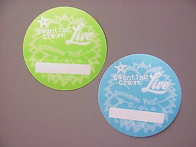 Counting Crows & Live 2 satin backstage passes AUTHENTIC 2 circles