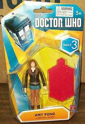 "DOCTOR WHO SERIES WAVE 3 AMY POND IN BROWN JACKET 3.75"" #sjan16-11-D"