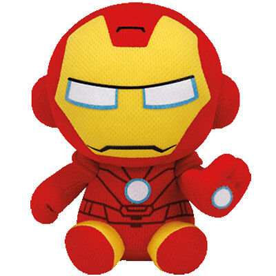 TY Marvel Iron Man Plush NEW! Beanie Baby Boo Avengers Ironman