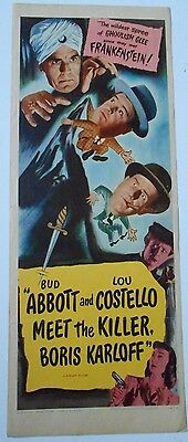 Abbott and Costello Meet the Killer Boris Karloff insert horror movie poster