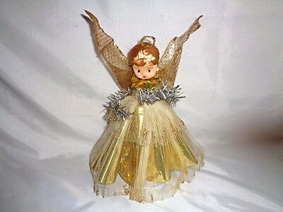 Mid Century Tree Topper- Foil And Tulle Angel Big!