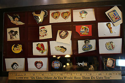 Lot of Mixed Betty Boop Pins LOT of 20 LOOK! Pins Only Display not included JSH