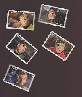 Canada 2016 Star Trek Used Set