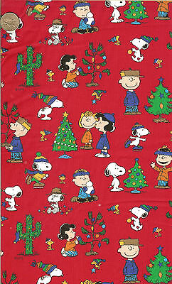 """SNOOPY CHRISTMAS ON BLUE 18/""""X22/"""" OOP RELEASED 2001 FQ"""