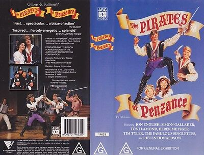 The Pirates Of Penzance ~Vhs Video Pal ~A Rare Find~