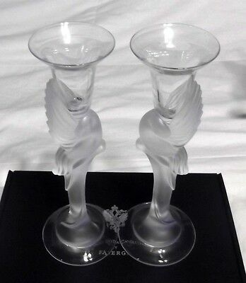 Franklin Mint House Of Faberge Dove Candle Holders