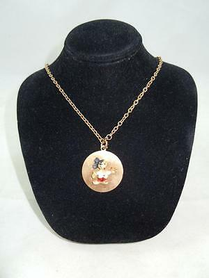 Vintage Mickey Mouse Pendant With Chain 1960's Walt Disney Productions