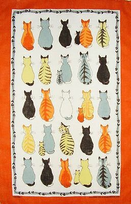 Cats In Waiting Ulster Weavers Linen Tea Towel