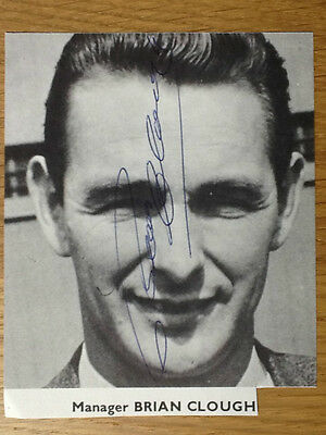 Superb Brian Clough signed picture Derby County Nottingham Forest Mangaer