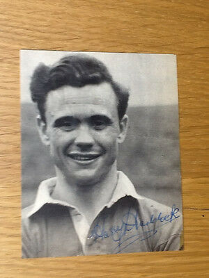 Rare Harry Haddock signed picture Clyde & Scotland autograph 1949-1963