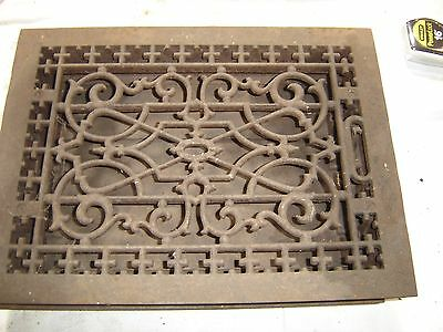 Antique Cast Iron Floor Furnace Grate Decorative Scroll Design.8087