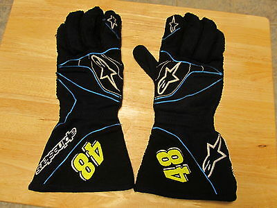 Nascar Race Used Jimmie Johnson Gloves 2015 Road Course Set Of 48 Gloves