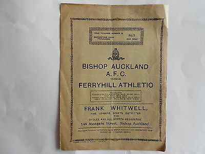 BISHOP AUCKLAND v FERRYHILL ATHLETIC  Northern League  1950-51