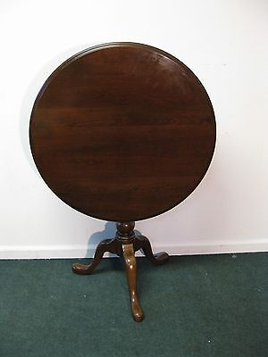 Ethan Allen Georgian Court Tri Leg Tilt Top Table Cherry
