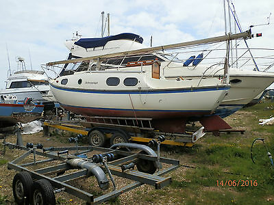 1969 westerly nomad 22 easy project.comes with 4 wheeled trailer px brit bike