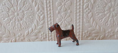 Small Cast Metal Airedale Terrier Dog Model Dog Figurine Airedale Ornament