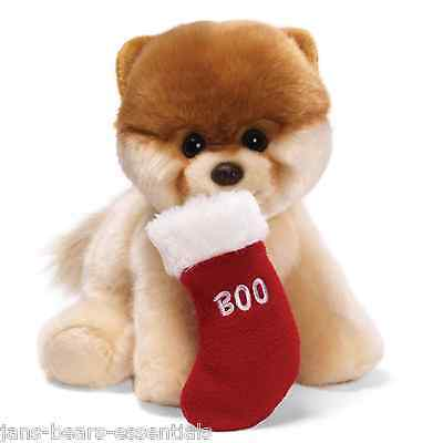 Gund - Boo Dog with Christmas Stocking - 9""